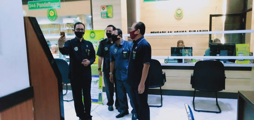 SIDAK Virtual DITJEN BADILAG di PA Surabaya