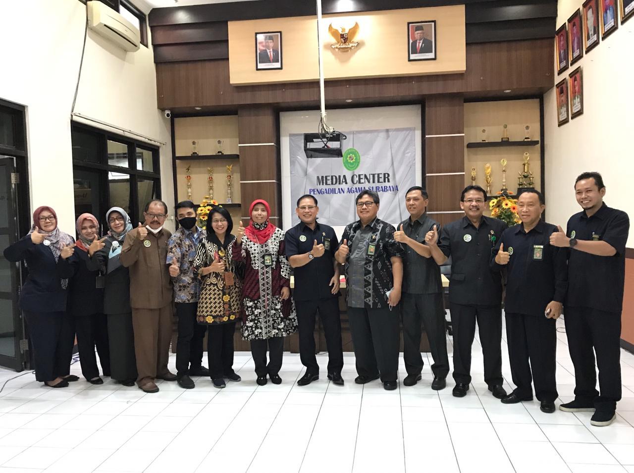 Pendampingan ZI BAWAS MA RI  PA Surabaya Menuju WBBM